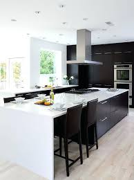 modern white and black kitchens. Modern Black Kitchens And White Kitchen With Light Colored Wooden Floors A Steel .