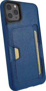 Smartish iPhone 11 Pro Max Wallet Case Vol. 2 - Credit Card Holder (Silk) -  Blues on The Green