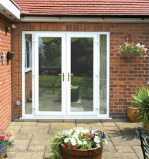 exterior french patio doors. Exterior, Attractive And Stylish Exterior French Patio Doors: White Doors With Side Lights   Backyard Pinterest E