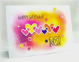 Birthday Card Sample Impressive Happy Birthday Friend Card By Bridget Finlay Paper Smooches