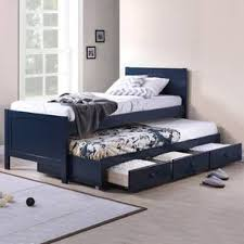 kids bunk beds with storage. Beautiful Beds Bering Single Bed With Trundle And Storage Single Size Blue Finish By Intended Kids Bunk Beds With T