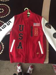 nike dream team letterman leather usa jacket size large for in santa cruz ca offerup