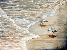 sea bird paintings birds on a gray day painting hilary england