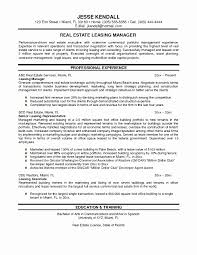 Inspirational Commercial Real Estate Resume Template Resume Ideas