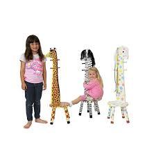 Giraffe Coat Rack Teamson Kids Giraffe High Backed Stool with Coat Rack Kiddicare 66