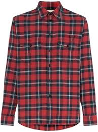 Mens Designer Flannel Gucci Paramount Print Checked Cotton Shirt Mens Designer