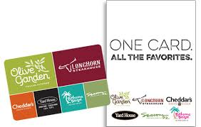 darden restaurant gift cards featuring all brands
