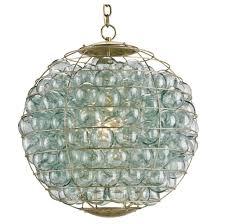 glass orb chandelier 1