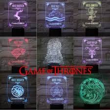 Game Of Thrones String Lights Us 4 53 40 Off Vcity 3d Night Light Led Bulb Game Of Thrones Fans Collection Gifts Souvenir Home Decor Bedside Table Lamp Led Lighting Rgbmulti In