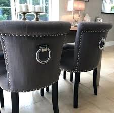 ring back dining chairs ring pull studded dining chair