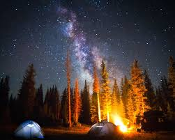 camping in the woods at night. Camping Outside A Beautiful Forest, Under Night Sky Full Of Stars. For ONE Only! In The Woods At