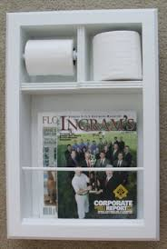 Toilet Paper Holder With Magazine Rack Magazine Holders MR100 Solid Wood Recessed In the Wall Bathroom 27