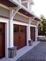 garage door installerRustic 3car garage with half rounded windows above The average