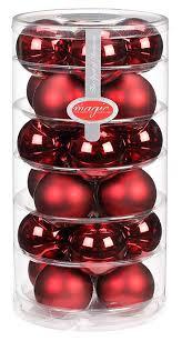 24 Christbaumkugeln Glas 6cm Chianti Dunkelrot Weinrot Bordeaux Weihnachtskugeln Baumkugeln Baumschmuck Weihnachtsdeko Kugeln Glaskugeln