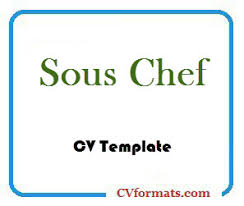 Chef Cv Template Sous Chef Cv Template Cvformats Com