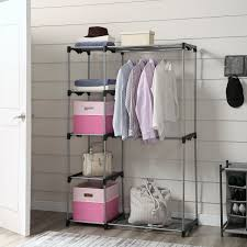 mainstays wire shelf closet organizer 2 tier easy to assemble