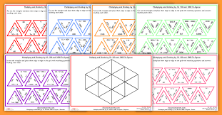 Multiplying and Dividing by 10 100 and 1000 Tarsia Tri-Jigsaw for ...
