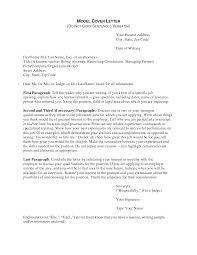 Model Cover Letters   Resume CV Cover Letter