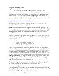 Writing An Interview Paper In Apa Format Homework Example July