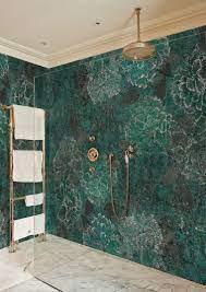Bathroom Wallpaper Green