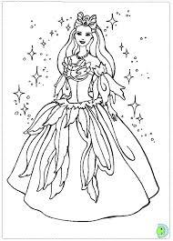 barbie of swan lake coloring page