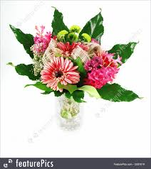 flowers beautiful bouquet of fresh vibrant gerbera flowers arranged in a green leaf and gl
