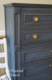 distressed blue furniture. 33 Enjoyable Inspiration Ideas Navy Blue Furniture Paint Dresser Painted With Annie Sloan Chalk And Bedroom Distressed