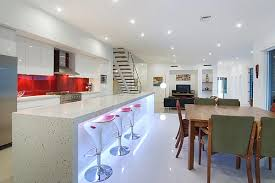 Kitchen under lighting Cabinet View In Gallery Neon Lighting Under The Cabinets Decoist 12 Kitchens With Neon Lighting