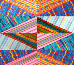 "136 best Striped fabric quilts images on Pinterest | Black, Book ... & Faux Diamond quilt by Jan Krentz: a class at AQS - Des Moines. October  Create ""faux"" diamond blocks using striped fabrics. Adamdwight.com"