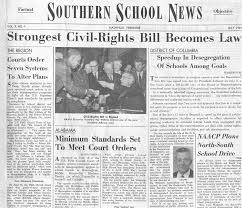 tsla remembers brown v board of education southern school beginning the publication of the first issue on 3 1954 each journal reported about desegregation of u s public schools state by state