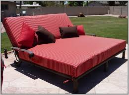 red double chaise lounge outdoor furniture