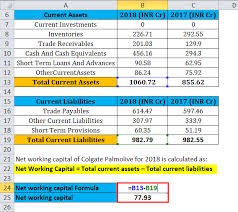 Net Working Capital Formula Net Working Capital Formula Calculator Excel Template
