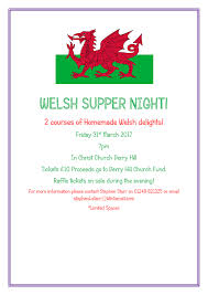 the marden vale team ministry welsh supper night