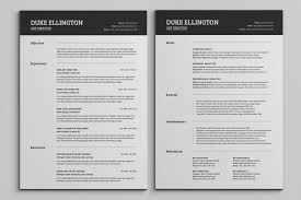 Two Page Resume Two Page Cv Template Under Fontanacountryinn Com