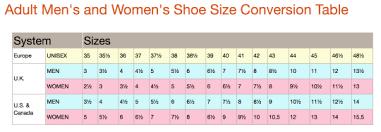 Unisex Shoe Size Conversion Chart Ftm Shoe Conversion Chart Tumblr