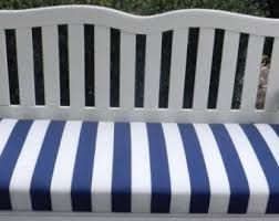 Indoor Outdoor Swing Bench Cushion Blue and White Stripe