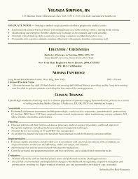 Best Nurse Resume Allnurses Resume Examples