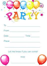 Kid Birthday Invitation Templates Marvelous Free Printable Kids