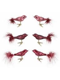 Inge Glas Inge Glas Christbaumschmuck Vogelsortiment 6 Teilig Magic True Love Rosa Rot Dunkelrot Im Heine Online Shop Kaufen