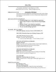 Automotive Resume Template Mechanic Resume Template Free Automotive