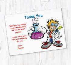 Free Online Thank You Card Science Thank You Cards Customise Online Plus Free Envelopes And