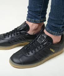 adidas gazelle adidas gazelle black leather lady s sneakers bd7480