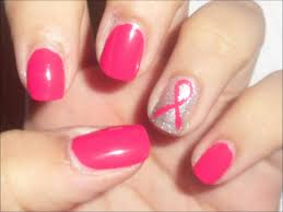 Best ideas of Breast cancer nail art with pink ribbon