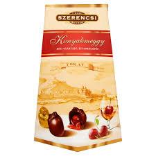 Szerencsi kézi gyártású, étcsokoládés konyakmeggy 250 g online bevásárlás  Tesco, Auchan, Groby árak összehasonlítása - Roksh.com!