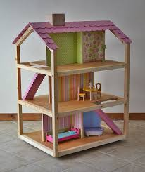 Inspired by the KidKraft So Chic dollhouse, this do it yourself version is  made of soy based plywood and finished with non toxic linseed oil.