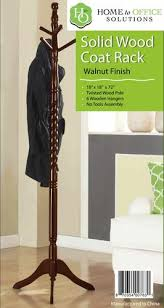 Home To Office Solutions Coat Rack Home to Office Solutions Walnut Finish Twisted Coat Tree at Menards 10