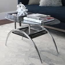 walker edison furniture company glass storage coffee table