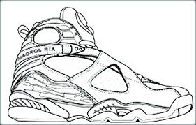 Nike Air Jordan Coloring Pages Shoes Free Basketball Shoe Picture To