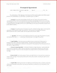 Premarital Agreement Template Prenuptial Sample Examples Of