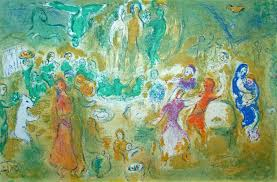 marc chagall wedding feast in the nymphs grotto from daphnis and chloe